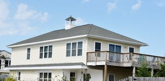 Rear view oceanfront home eastern shore virginia Stock Images