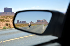 Rear View Of Monument Valley Stock Photo