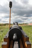 Rear view old cannon Stock Photos