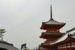 Rear view of pagoda. Kiyomizu-dera, formally Otowa-san Kiyomizu-dera, is an independent Buddhist temple in eastern Kyoto. Kyoto, Japan, 30th, May, 2017. Rear stock photos