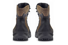 Rear view pair of Warm leather boots Royalty Free Stock Photo