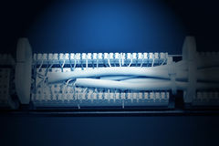 Rear view of the patch panel Royalty Free Stock Image