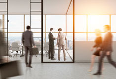 Rear view of people in conference room Stock Photos
