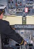 Rear view of pilot. Royalty Free Stock Photos