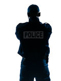 Rear view of policeman Royalty Free Stock Photo