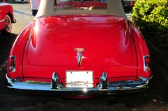 Rear view of red luxury car Royalty Free Stock Image