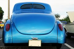 Rear view of retro car Stock Images