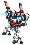 Rear View of Robot with Ignited Jets Stock Photos