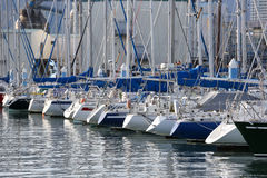 Rear view of sailboats at Shimizu port Stock Photography