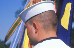 Rear View of Sailor Royalty Free Stock Photography