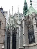 Rear view of Saint Patrick& x27;s Cathedral NYC stock photos