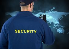 Rear view of security guard wearing uniform Royalty Free Stock Photography