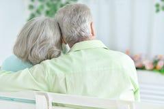 Rear view of senior couple Stock Photo