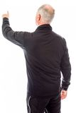 Rear view of a senior man blaming somebody Royalty Free Stock Photo