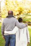 Rear view of senior peaceful couple Royalty Free Stock Image