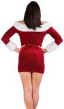 Rear view of sexy santa girl Royalty Free Stock Images