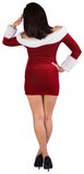 Rear view of sexy santa girl. On white background Stock Photography