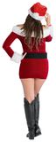 Rear view of sexy santa girl Royalty Free Stock Photo
