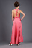 Rear View of Shapely Lady in Evening Gown Stock Images