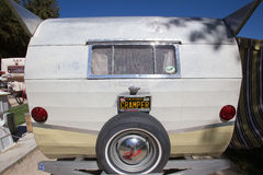 Rear view of Shasta Trailer Stock Image