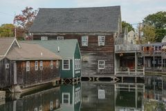Kennebunkport High Tide royalty free stock photos