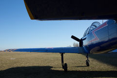 Rear view of a small, sport airplane Stock Photo