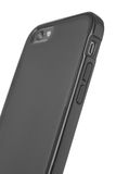 Rear View of Smartphone in Black Plastic Protective Case Royalty Free Stock Image