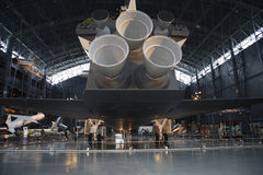 Rear view of Space Shuttle Stock Photo