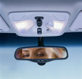 Rear-view Spiegel Stockbild