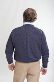 Rear view of standing man Stock Photos