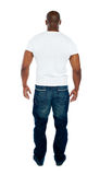 Rear view of stylish young man Royalty Free Stock Photos