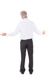 Rear view of surprised mature businessman posing Royalty Free Stock Photo