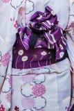 Rear view of Traditional japanese Kimono Royalty Free Stock Photos