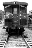 Rear view of a train caboose Royalty Free Stock Image