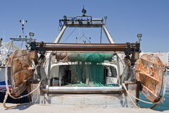 Rear View of a Trawler Royalty Free Stock Image