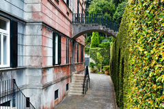 Rear view of  tropical monte palace in Madeira Stock Image