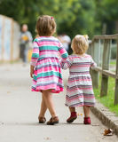 Rear view of two little girls Royalty Free Stock Photography