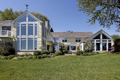 Rear view of upscale home Royalty Free Stock Images