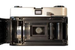 Rear view of vintage film camera Royalty Free Stock Photos