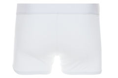 Rear View of White Boxer Brief Underwear Stock Photos