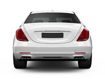 Rear view of white luxury car Royalty Free Stock Images