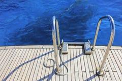 Stairs yacht stock photo