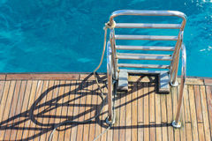 Stairs yacht Stock Photography