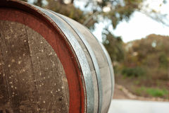 Rear view of a wine barrel Royalty Free Stock Photo