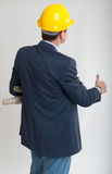 Rear view of a working architect Stock Photography