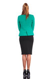 Rear view of a young business woman standing Royalty Free Stock Image