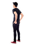 Rear view of young casual man Royalty Free Stock Images