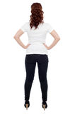 Rear view of a young woman Royalty Free Stock Photography