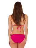 Rear view of young woman in bikini Royalty Free Stock Photography