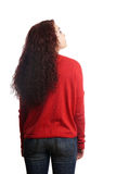 Rear view of young woman looking up Royalty Free Stock Images